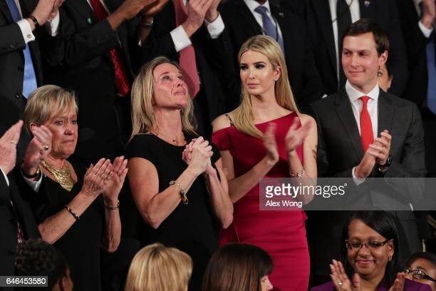 Widow of Fallen Navy Seal Senior Chief William Owens Carryn Owens Ivanka Trump and White House Senior Advisor to the President for Strategic Planning...