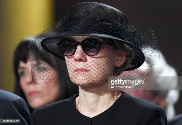 Widow of former German Chancellor Helmut Kohl Maike KohlRichter attends a memorial service for late former Chancellor Helmut Kohl on July 1 2017 at...