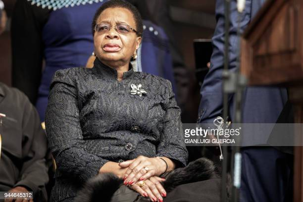 Widow of former South African President Nelson Mandela Graca Machel arrives to attend a memorial service for the late antiapartheid stalwart Winnie...