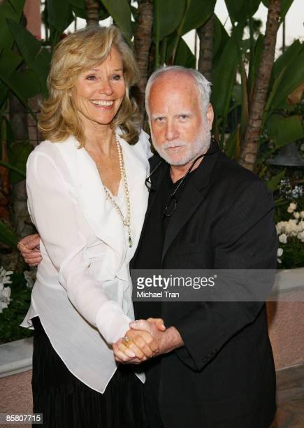 """Widow of Roy Scheider, Brenda Siemer-Scheider and Actor Richard Dreyfuss arrive to """"A Tribute to Roy Scheider"""" held at The Beverly Hills Hotel on..."""