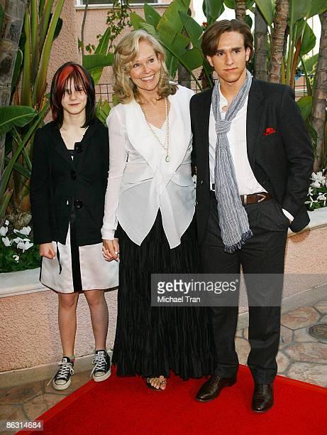 Widow of Roy Scheider Brenda SiemerScheider and her children arrive to A Tribute to Roy Scheider held at The Beverly Hills Hotel on April 4 2009 in...
