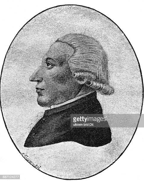 Wieland Christoph Martin Schriftsteller D Portrait nach einer Zeichnung von Goethe 1762