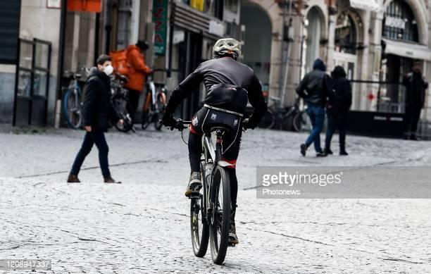 Wielertoeristen in de Leuven / cyclo-touristes à Louvain Leuven pict. By Bert Van den Broucke © Photo News via Getty Images)