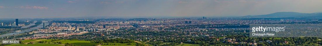 Wien Kahlenberg Und Donau Pano Stock Photo Getty Images