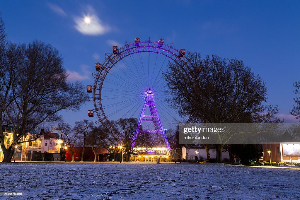 Wiener Riesenrad in the Winter : Stock Photo