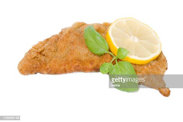 wiener schnitzel - breaded stock photos and pictures