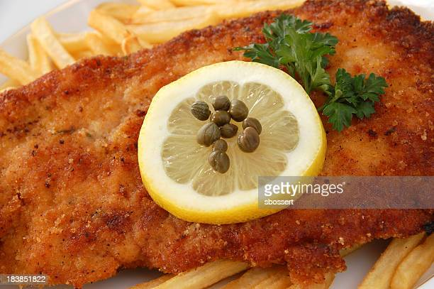 wiener schnitzel - milanese stock pictures, royalty-free photos & images