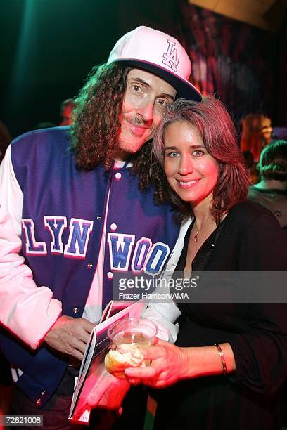 Wierd Al Yankovic and wife Suzanne attend the 2006 American Music Awards after party held at the Shrine Auditorium on November 21 2006 in Los Angeles...
