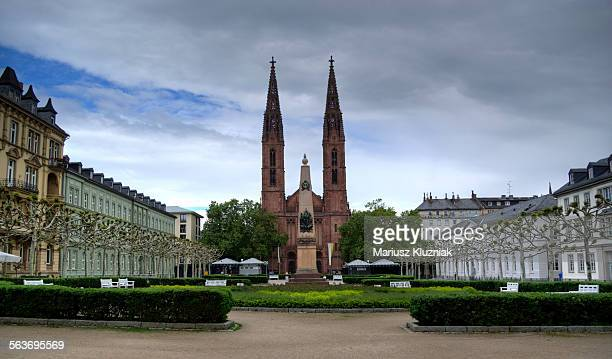 Wiesbaden Luisenplatz and St. Bonifatius church