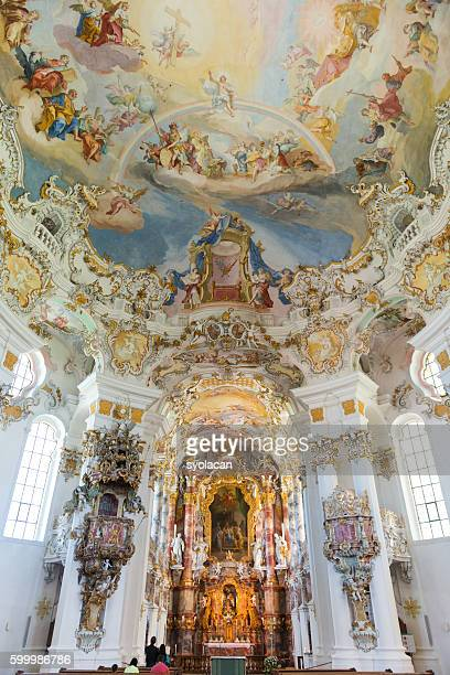 wieskirche church - syolacan stock pictures, royalty-free photos & images