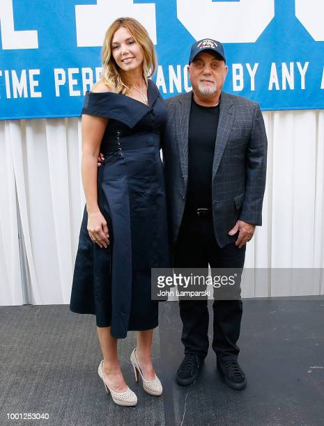 Wife Alexis Roderick and Billy Joel attend Madison Square Garden celebration of Billy Joel's 100th lifetime show at Madison Square Garden on July 18...