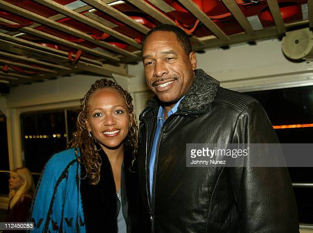 Wife and Dave Winfield during Will Smith Jada Pinkett Smith and Guests Travel to the 'Hitch' Premiere on Ellis Island at Staten Island Ferry in New...