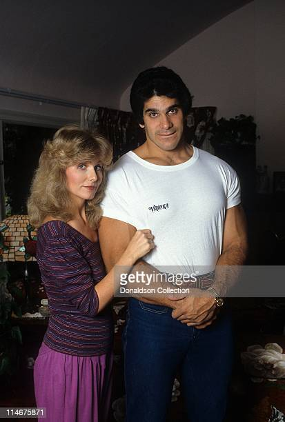 Wife Carla and Actor and weightlifter Lou Ferrigno pose for a portrait in circa 1985 in Los Angeles California