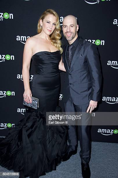 Wife Deanna Daughtry and Chris Daughtry attends Amazon Studios Golden Globes Party at The Beverly Hilton Hotel on January 10 2016 in Beverly Hills...