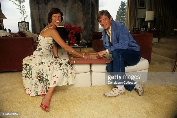 Wife Georgiana and Actor Anthony Andrews pose for a portrait in circa 1985 in Los Angeles California