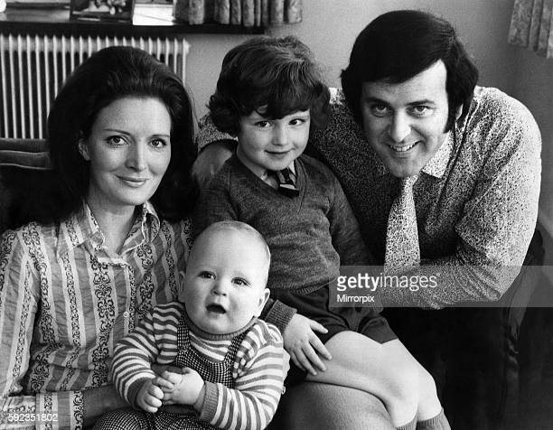 Wife Helen Wogan and sons Alan Wogan and Mark Wogan who will be 1 on April 13