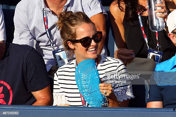 Wife of Andy Murray of Great Britain Kim Murray attends the Men's Singles Fourth Round match between Kevin Anderson of South Africa and Andy Murray...