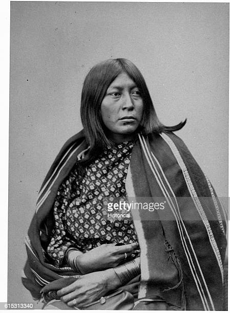 Wife of Cheevers Comanche Indian delegations 1872