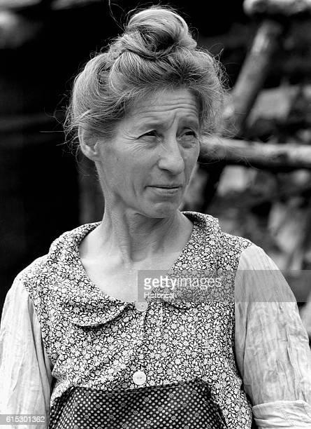 Wife of Farmer Black River Falls Wisconsin 1937 | Location Black River Falls Wisconsin USA