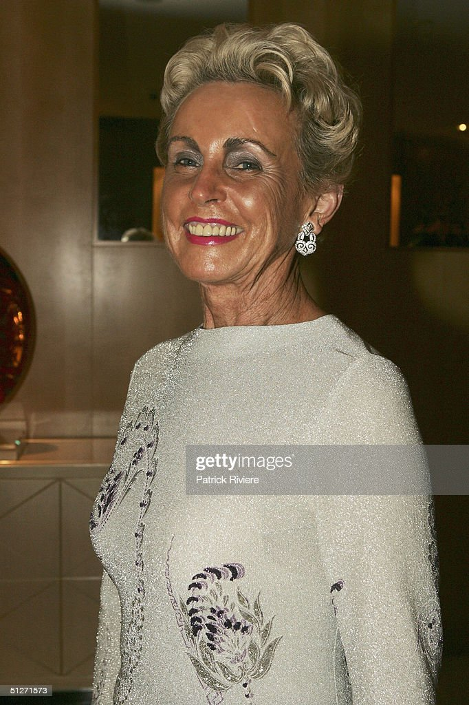 Wife of former Australian Prime Minister Lady Sonia McMahon arrives at the Sofitel Wentworth Gala Opening Night September 8, 2004 in Sydney, Australia.