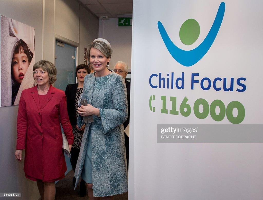 BELGIUM-DIPLOMACY-CHILD-CARE : News Photo