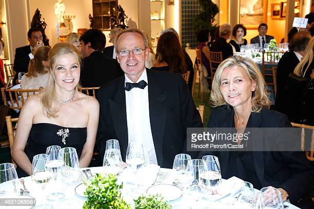 Wife of Italy Ambassador Renaud Donnedieu de Vabres and Claire Chazal attend the 27th 'Biennale des Antiquaires' Pre Opening at Le Grand Palais on...