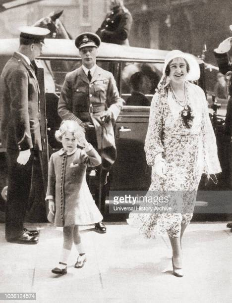 Wife of King George VI and mother of Queen Elizabeth II. From The Coronation Book of King George VI and Queen Elizabeth, published 1937.