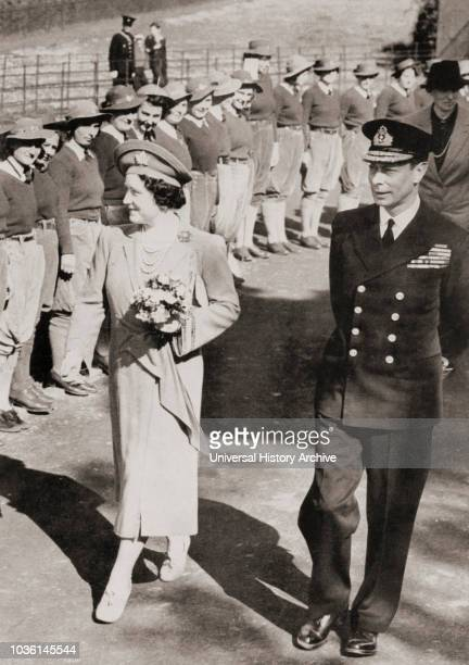 Wife of King George VI and mother of Queen Elizabeth II