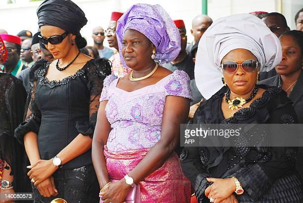 Wife of late Nigeria's secessionist leader Odumegwu Ojukwu Bianca Ojukwu Ikemba wife of the Senate President Helen Mark and the First Lady Patience...