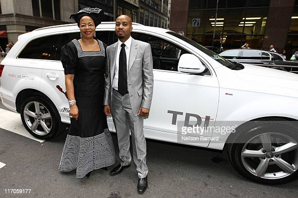 Wife of Nelson Mandela Graca Machel arrives in the Audi Q7 TDI clean diesel to the Mandela Day Gala dinner at Grand Central Station on July 15 2009...