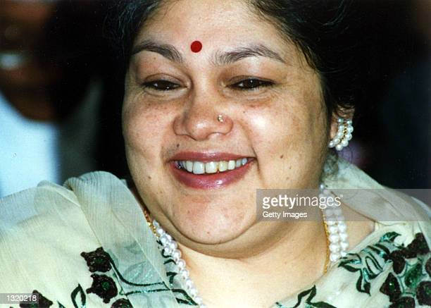 Wife of Nepalaese King Gynendra Kamal smiles in an undated photo The public continues to mourn the murder of the royal family after Crown Prince...