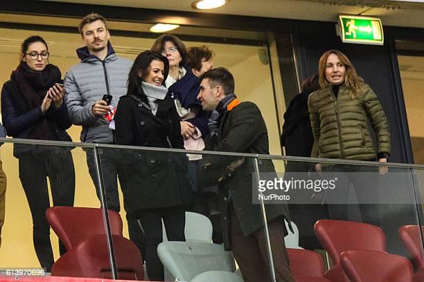 Wife of Robert Lewandowski of Poland Anna Lewandowska during the WC 2018 football qualification match between Poland and Armenia in Warsaw Poland on...
