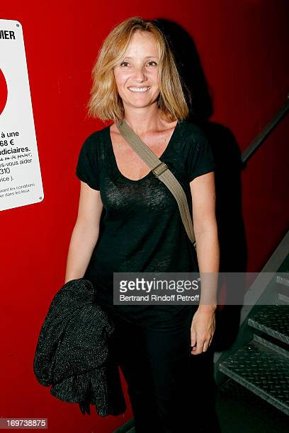 Wife of singer Gregoire Eleonore de Galard backstage after Patrick Bruel's concert at Zenith de Paris on May 30 2013 in Paris France