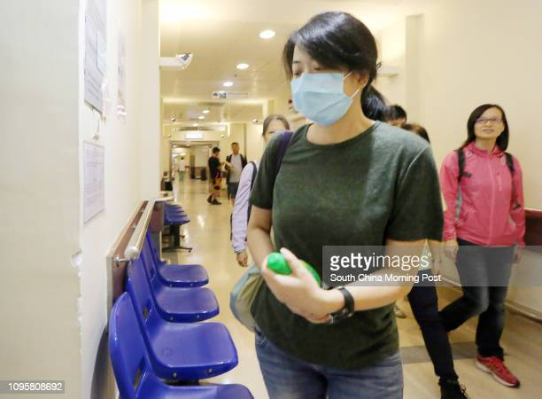 **PLEASE DO NOT PUBLISH HER NAME** wife of Stephen Lee pictured outside the intensive care units in Queen Mary Hospital Lee a liver cirrhosis patient...