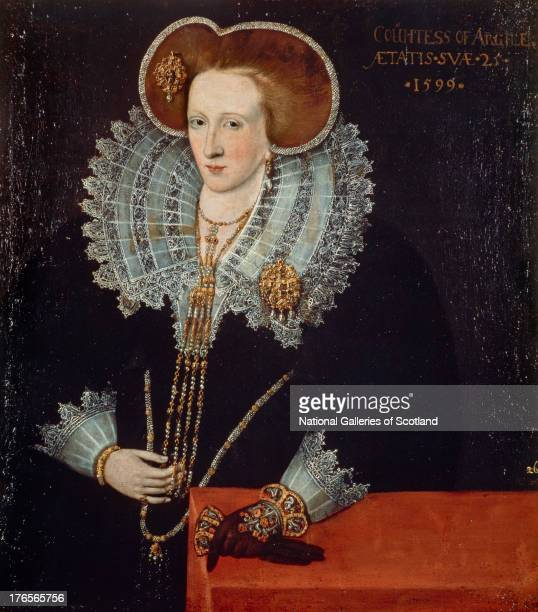Wife of the 7th Earl of Argyll by Attributed to Adrian Vanson 1599 Oil on canvas