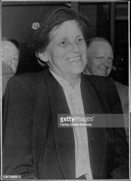 Wife of the Anglican Archbishop of Sydney Mrs HWK Mowll returned by BCPA last night from London after being there for the Coronation July 08 1953