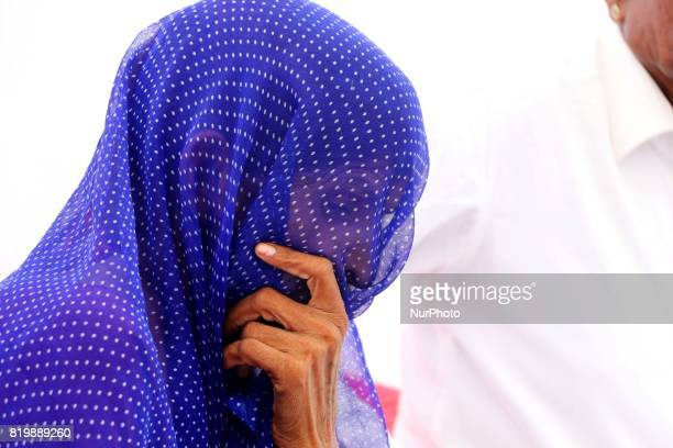 Wife of the farmers who committed suicide due to heavy debts during the 'Kisan Akrosh Rally ' at Banswara in Rajasthan on 19th July2017
