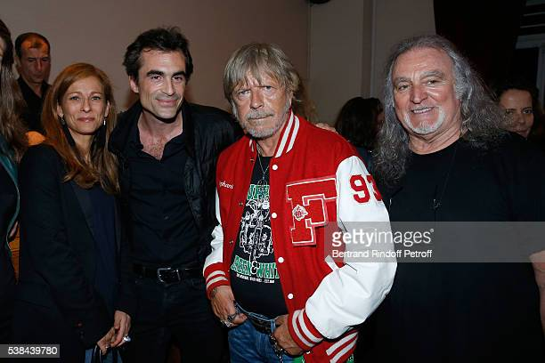 Wife of the French Prime Minister Manuel Valls violonist Anne Gravoin philosopher Raphael Enthoven singer Renaud Sechan and musician Roland Romanelli...