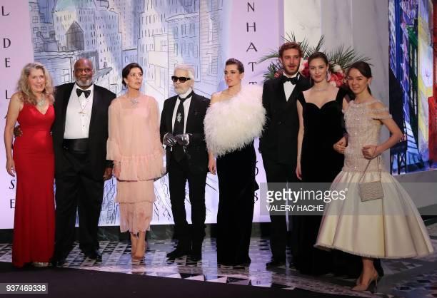 Wife of the US Blues singer Henry Saint Clair Fredericks aka Taj Mahal, Taj Mahal, Caroline of Monaco Princess of Hanover, German fashion designer...