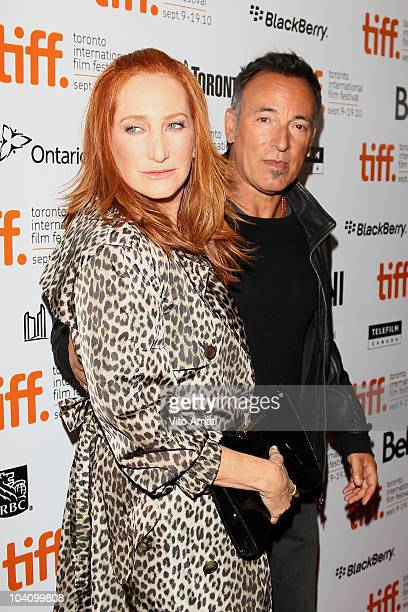 Wife Patti Scialfa and musician Bruce Springsteen attend The Promise The Making Of Darkness On The Edge Of Town Premiere during the 35th Toronto...