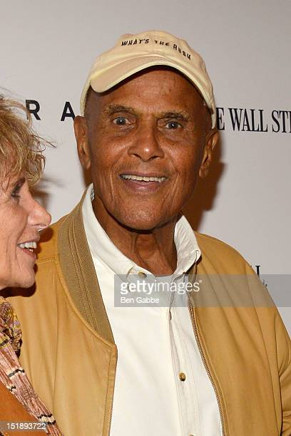 Wife Pemala Belafonte and Harry Belafonte attend the Arbitrage New York Premiere at the Walter Reade Theater on September 12 2012 in New York City