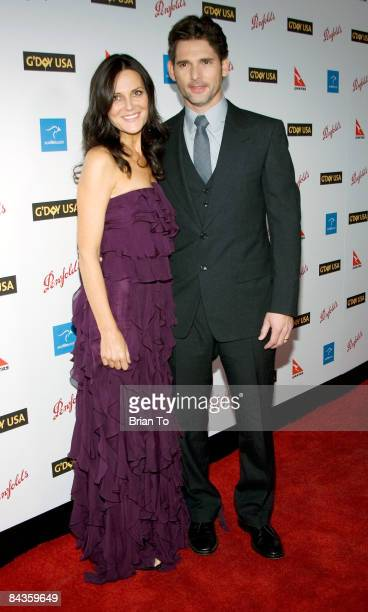 Wife Rebecca Gleeson and honoree actor Eric Bana arrives at Australia Week 2009 Black Tie Gala Arrivals at Hollywood Highland Grand Ballroom on...