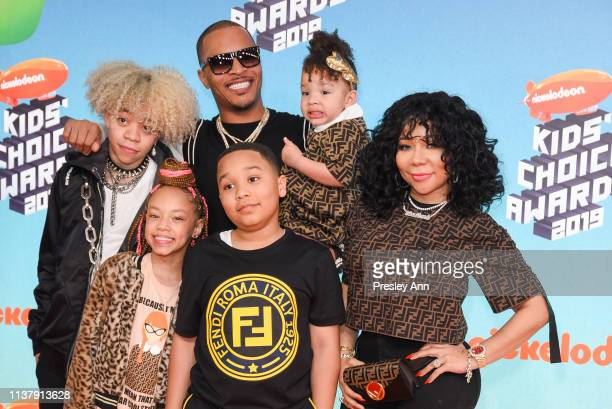 Wife singer-songwriter Tiny and their children Clifford 'King' Joseph Harris III, Layah Amore Harris, Major Philant Harris and Heiress Diana Harris...