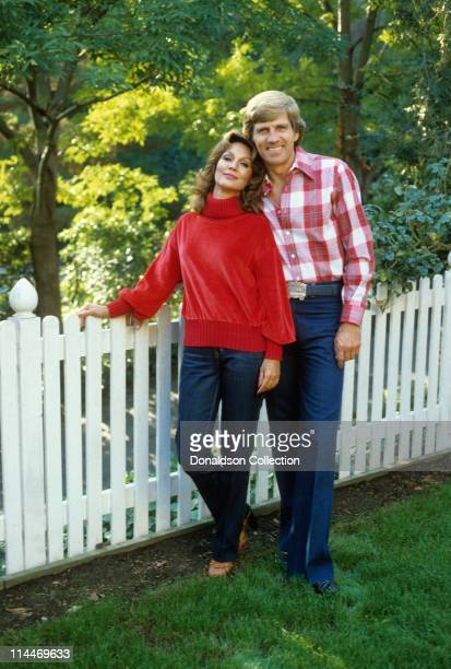 Wife/Former Miss America Mary Ann Mobley Host Gary Collins pose for a portrait in 1979 in Los Angeles California