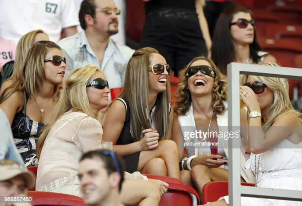 Wifes and girlfriends of English players chatting in the VIP-area before the 2nd round match of the 2006 FIFA World Cup between England and Ecuador,...