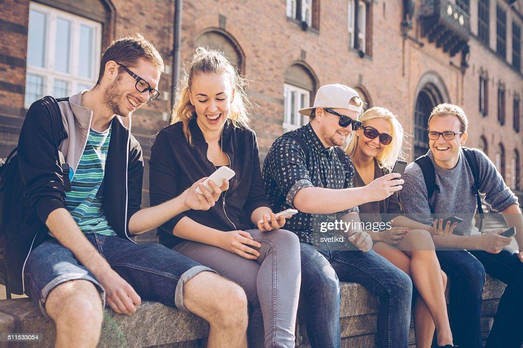 Wi-Fi meeting : Stock Photo