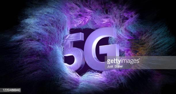 tecnologia mobile wifi 5g - 5g foto e immagini stock