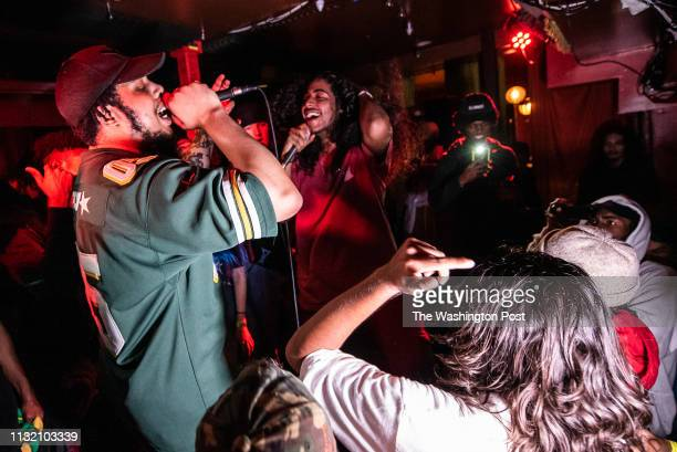 Wifigawd and Khan perform the last set of the night at Songbyrd on Thursday