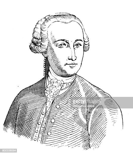Wig in the year 1750 professor Haeberlein of Helmstaedt Germany History of fashion costume story