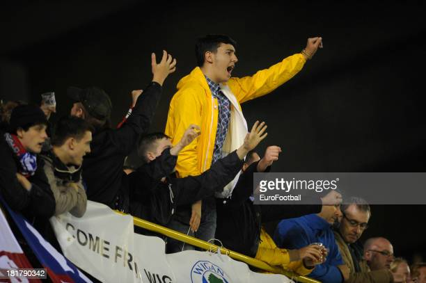 Wigan Athletic FC supporters during the UEFA Europa League group stage match between SV Zulte Waregem and Wigan Athletic FC held on September 19 2013...